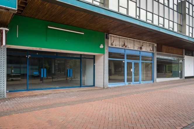 Vacant retail property