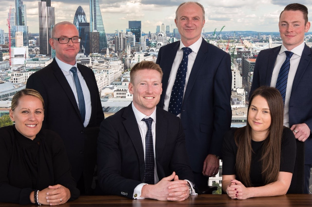 Left to right: Ajsela Cela (Manager), Gerard Morgan Jackson (Head of Structured Finance), Chris Walters (Manager), Thomas Ahearne (Analyst), James Greenyer (Manager) and Lucy Coleman (Assistant)