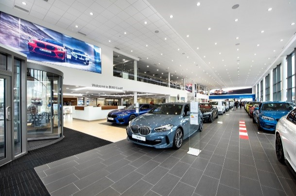 BMW car dealership in Cardiff
